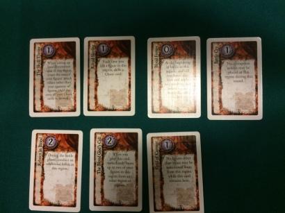 Khorne's upgrade cards focus on combat bonuses and magic denial.